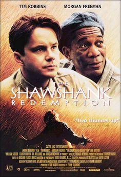 The Shawshank Redemption (1994)  Acusado del asesinato de su mujer, Andrew Dufresne, tras ser condenado a cadena perpetua, es enviado a la cárcel de Shawshank. Con el paso de los años conseguirá ganarse la confianza del director del centro y el respeto de sus compañeros de prisión, especialmente de Red, el jefe de la mafia de los sobornos