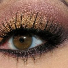 For those with particularly deep-set brown eyes, eyeshadow shades in rose and even some light pinks are a great option. Use the rose/pink along the brow bone to enhance deep-set brown eyes and make them stand out beautifully. Consider pairing the rose shadow with gold and/or a darker purple for high drama. With pinks, try to find eyeshadow shades with brown or gold undertones.