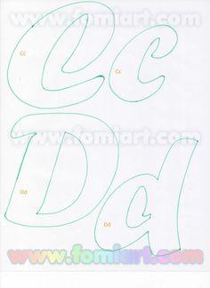 31- Abecedario Gratuito Estilo Fomiart con Maestra con Manzana | Moldes Gratuitos Alphabet Stencils, Alphabet Art, Calligraphy Alphabet, Types Of Lettering, Lettering Styles, Different Font Styles, Beautiful Notes, Creative Lettering, Letter A Crafts