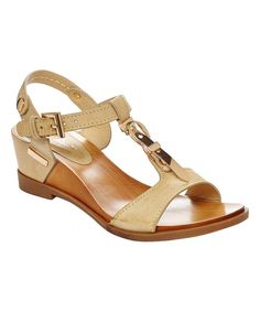 Look at this Beige Areana Wedge Sandal on #zulily today!