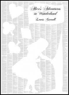 Alice In Wonderland!  We are in LOVE with this new range!! A whole book on a single sheet... a bold art print on which, up close, you can read the full and complete text of your favourite classic work! #spinelessclassic #babyroom #designerbaby #babygiftsonline #nurserydecor #littlebooteek #aliceinwonderland