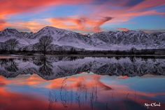 Famers Pond Sunset Bishop California by Ngoc Chanh Photography