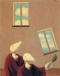 RENE MAGRITTE 1945 Spontane ontmoeting / Les Rencontres naturelles  / Natural encounters -