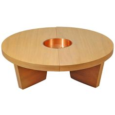 Harvey Probber 'Nuclear' coffee table   United States, 1949   Materials: bleached mahogany and copper