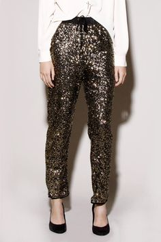 sequin pants - bring it, fashionista!