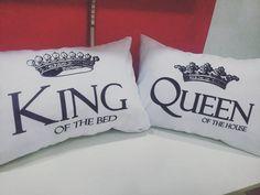 Almohadas personalizadas #King #Queen #Love perfecto para el día del padre visítanos en el Mall El Fortín subsuelo 1 local Solo Publicity