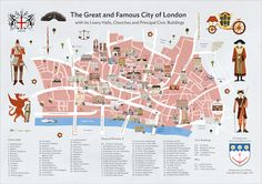 The City of London A2 Poster Map of Livery Halls