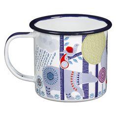 Mug en acier �maill� (2 couleurs) motif Folklore