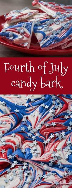 We Can't Stop Craving This Fourth of July Candy Bark Recipe! - thegoodstuff - We Can't Stop Craving This EASY Fourth of July Candy Bark Recipe! We Can't Stop Craving This EA - # Patriotic Desserts, 4th Of July Desserts, Fourth Of July Food, 4th Of July Celebration, 4th Of July Party, Holiday Desserts, Holiday Treats, July 4th, Holiday Recipes