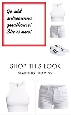 """""""Add Her Please!"""" by jaden-norman ❤ liked on Polyvore featuring H&M, Pieces and adidas"""