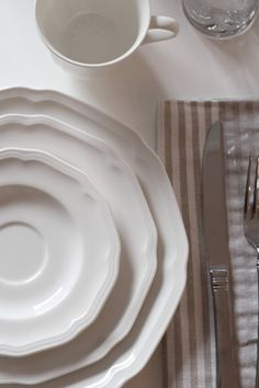Mikasa Antique White dinnerware and Mikasa Harmony flatware from Simply Grove & Bottle DIY with Mikasa Antique White dinnerware from Simply Grove ...