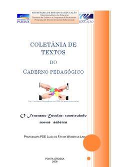 Minha Coletânia de texto para implementaçãodoPDE  Caderno utilizado para implementação do Programa PDE 2008-10
