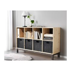 BRANÄS Basket IKEA Perfect for newspapers, photos or other memorabilia. Easy to pull out and lift as the basket has handles. Decor, Boho Living Room, Home, Small Spaces, Apartment Storage, Shelving, Ikea, Cube Shelves, Apartment Decor