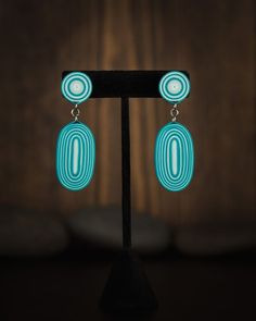 Aqua Color, Teal, Turquoise, Boho Earrings, Drop Earrings, Paper Quilling Earrings, Anniversary Gift For Her, Jewelry, Jewlery