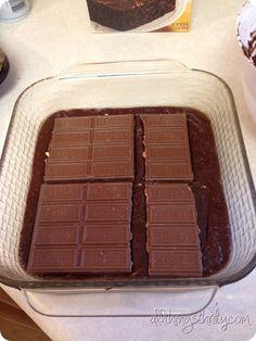 Chocolate brownie using brownie mix & choc
