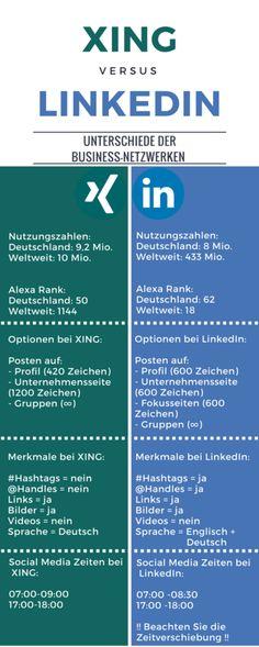 XING vs. LinkedIn - die Unterschiede zwischen den Business Netzwerken   #XING…