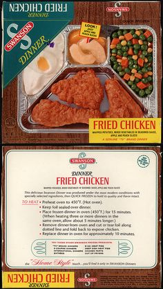 TV dinners looked like this when I was a kid.  The whole thing was covered in foil.