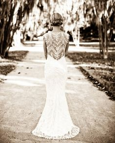Chantilly by Claire Pettibone...Stumbling upon one of my bridal photos on pinterest was weird.