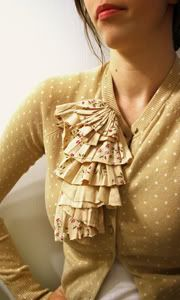 ruffled cardigan how-to
