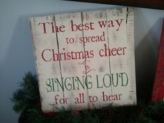 Vintage Pallet Wood Christmas Sign. Elf quote by TheCreativePallet, $37.00