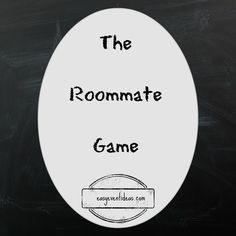 The Roommate Game- complete with free questions great for RA Floor activity