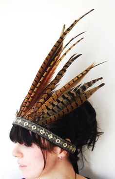 Feather headdress...a cute smaller sized one!