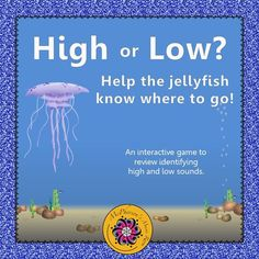 Your elementary music students will love watching the jellyfish move high or low on the page when they select the correct answer in this student interactive music game! They will be begging to play again and again!  Engaging music resource!