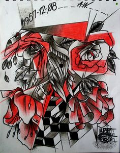 COLLAGE ARTKPONE DESARROLLO PARA TATUAJE #ARTKPONE #TATTOO #BOGOTA