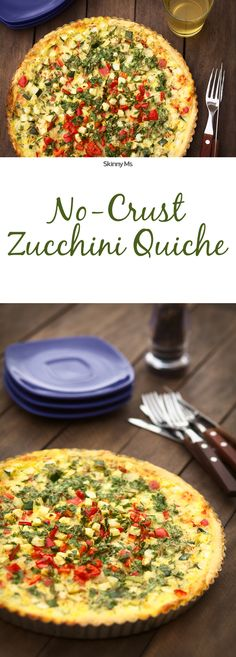 Getting rid of the crust cuts a lot of calories, and makes this delicious Crustless Zucchini Quiche gluten-free!