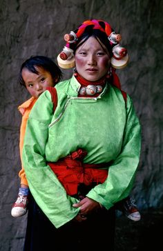 Woman & Child at a Horse Festival in Tagong, Kham, Tibet
