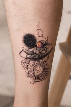 Tattoos For Lovers, Small Tattoos For Guys, Cool Small Tattoos, Different Tattoos, Space Tattoo Sleeve, Best Sleeve Tattoos, Dope Tattoos, Leg Tattoos, Zoe Kravitz Tattoos