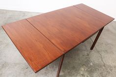 Mid Century Walnut Draw Leave Dining Table by VintageSupplyLA