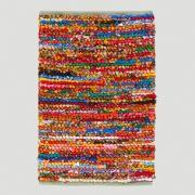 3'x5' Multicolor Loop Chindi Rug