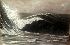 Técnica mixta s/ madera. Tamaño 100x80 cm.  #acrylicpaintings #surfart #almonsurfart #seascapes #pontevedra #riasbaixas #seawaves #wavepaintings #olas #playas