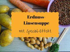 Erdnuss Linsensuppe (Anti-Kater + vegan)