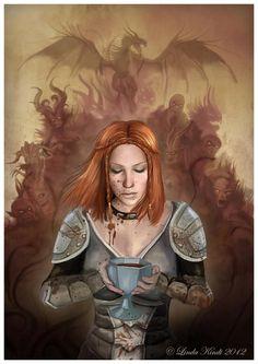 Leliana - Warden initiation ritual