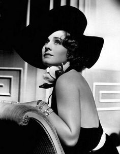 Pure Glamour. . . I love this picture. I have been told that I look like Miss Norma Shearer and I'm flattered =D