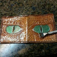Dragon wallet ready to stitch  #dragon #dragons #celtic #knotwork #viking #vikings #leather #leatherwallet #worldofleathercraft #artisan #wallet #boyfriendgift #boyfriend #nerdist #uniquegifts