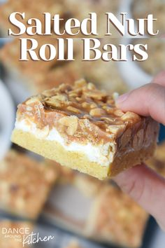 Salted Nut Bars, Salted Nut Rolls, Easy Dessert Bars, Easy Desserts, Delicious Desserts, Cookie Recipes, Dessert Recipes, Bar Recipes, Recipies