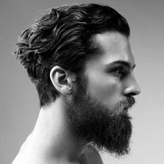 mens brown curly hair slicked back