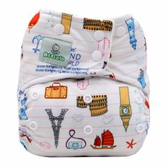Baby' Around The World Cloth Diaper (with 2 Micro-fiber Inserts), 35% discount @ PatPat Mom Baby Shopping App