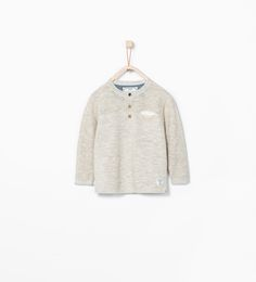 ZARA - KIDS - BUTTON NECK SWEATER
