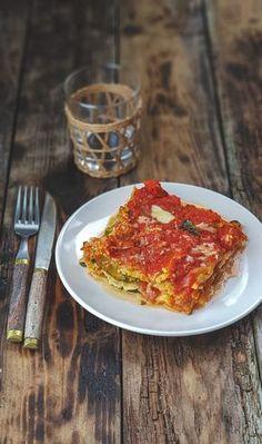 Lasagnes courgettes, sauce tomates à l'origan frais, et fromage de chèvre (sans béchamel) | Recettes de cuisine | marciatack.fr