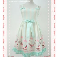 """Free shipping worldwide!  Material: made of chiffon and cotton lining  Colors: Ming Green/ Cream Mocha  Size Reference:  Size S:  Bust: 78-82cm/30.71-32.28""""; Waist: 58~62cm/22.83-24.41""""; Length: 88cm/34.65"""";  Size M:  Bust:83~86cm/32.68-33.68""""; Waist: 63~66cm/24.8-25.98""""; Length: 92..."""