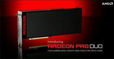 La carte graphique AMD Radeon Pro Duo - capture d'écran du compte Twitter de  AMDGaming
