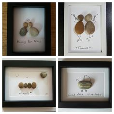 Personalised Pebble Art Picture  by MadebyZomo on Etsy