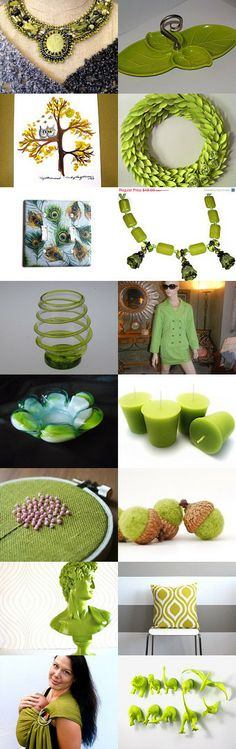 Crazy for Chartreuse by Santa Bags on Etsy--Pinned with TreasuryPin.com
