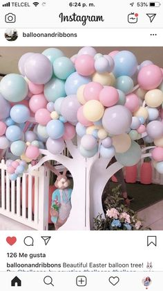 Would be very cute for a book/ Library event as well. Balloon Arrangements, Balloon Decorations, Birthday Party Decorations, Balloon Tree, Balloon Flowers, Baby Shower Themes, Baby Shower Decorations, Baby Decor, Baby Birthday