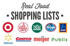 a real food meal plan with shopping list. All real food for the whole family. Real food meal plan that's practical.