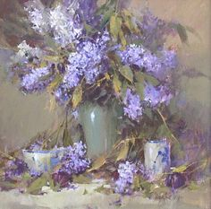 Lilac Painting, Lilac Bouquet, Cosy Room, Bird Drawings, Flower Art, Art Flowers, Pictures To Paint, Still Life, Beautiful Flowers